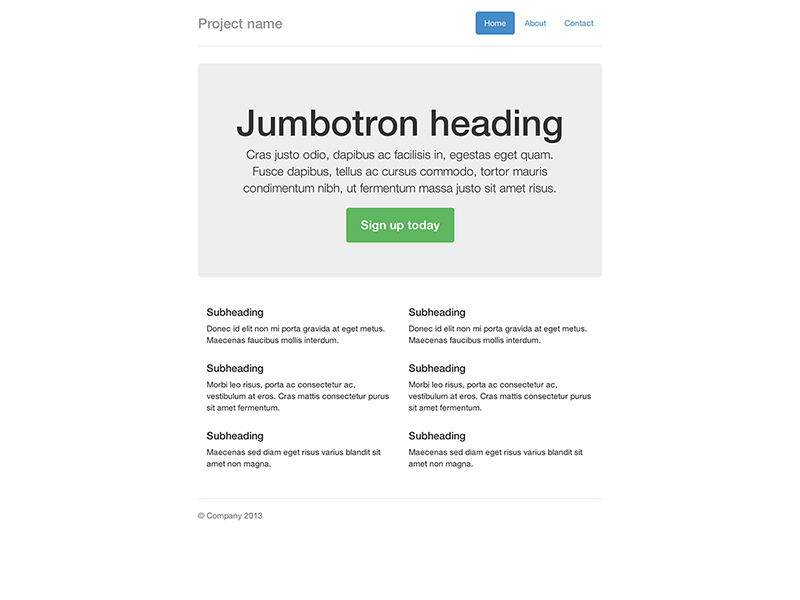Narrow Jumbotron Template for Bootstrap