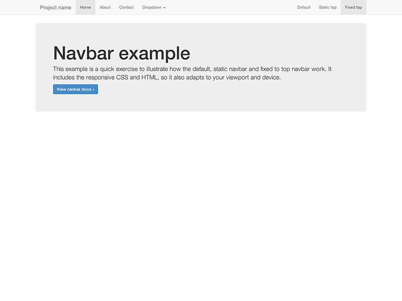 Fixed Top Navbar Example for Bootstrap