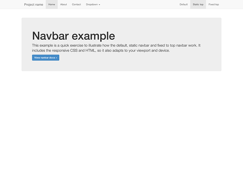 Static Top Navbar Example for Bootstrap